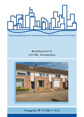 Brochure preview - brochure bereklauwerf 43, arnemuiden