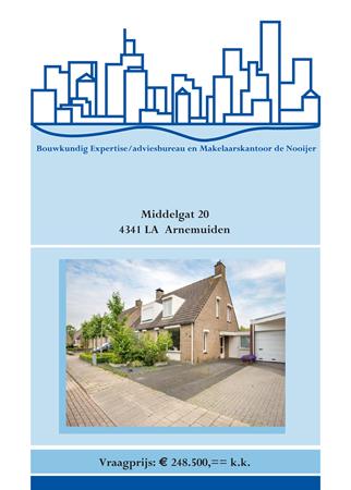 Brochure preview - brochure middelgat 20, arnemuiden