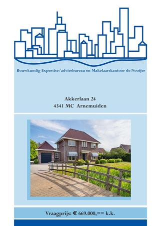 Brochure preview - brochure akkerlaan 24, arnemuiden