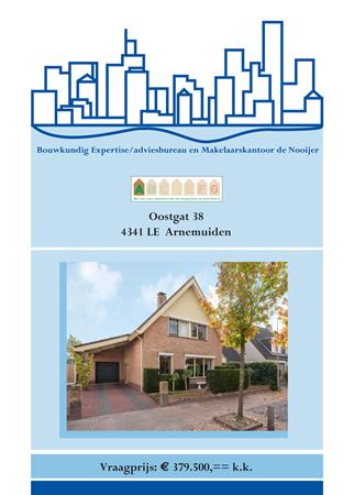 Brochure preview - brochure oostgat 38, arnemuiden