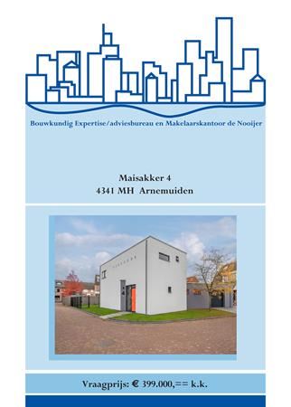 Brochure preview - brochure maisakker 4, arnemuiden