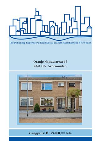 Brochure preview - brochure oranje nassaustraat 17, arnemuiden