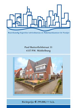 Brochure preview - brochure paul butterfieldstraat 33, middelburg