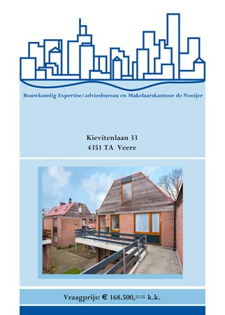 Brochure preview - brochure kievitenlaan 33, veere