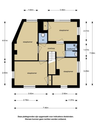 Plattegrond - Blekerstraat 257, 7513 DV Enschede