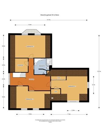 Plattegrond - Glanerbrugstraat 35, 7585 PK Glane