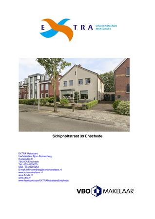 Brochure -  - Schipholtstraat 39, 7534 CR Enschede