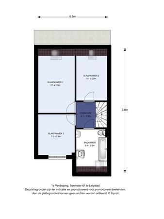 Floorplan - Beemster 61, 8244 CE Lelystad