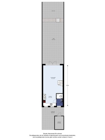 Floorplan - Mazustraat 85, 1363 RE Almere