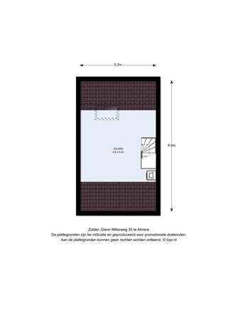 Floorplan - Glenn Millerweg 35, 1311 RP Almere
