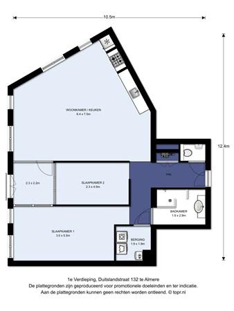 Floorplan - Duitslandstraat 132, 1363 BG Almere