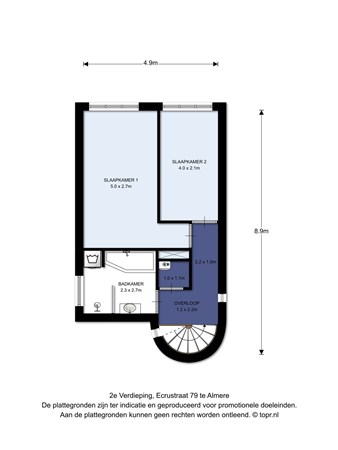 Floorplan - Ecrustraat 79, 1339 BK Almere