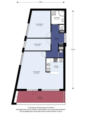 Floorplan - Palembangweg 18, 1335 HJ Almere