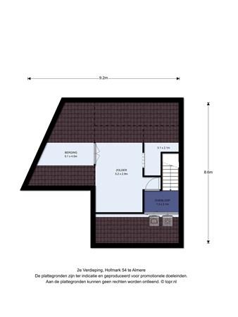 Floorplan - Hofmark 54, 1355 HE Almere