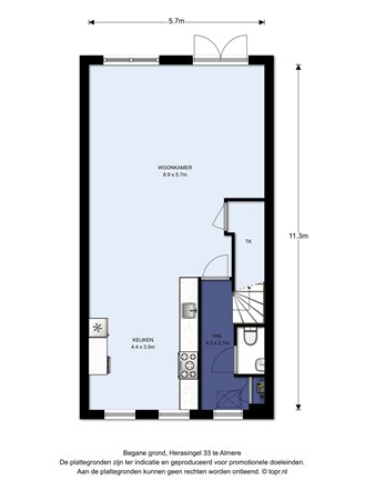 Floorplan - Herasingel 33, 1363 TH Almere