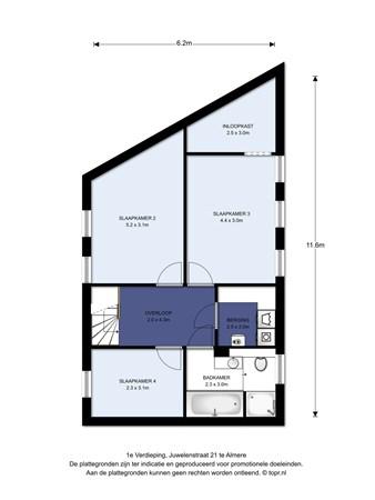 Floorplan - Juwelenstraat 21, 1336 TC Almere