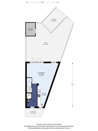 Floorplan - James Cookroute 165, 1363 KE Almere