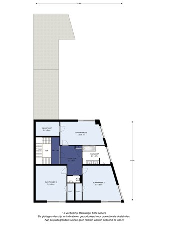 Floorplan - Herasingel 43, 1363 TH Almere