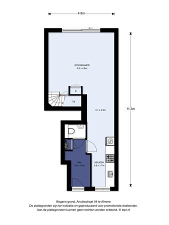 Floorplan - Anubisstraat 54, 1363 XJ Almere