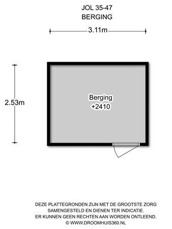 Floorplan - Jol 35 47, 8243 HG Lelystad