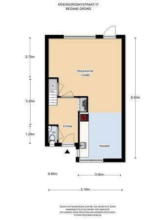 Floorplan - Moessorgskystraat 17, 1323 PN Almere