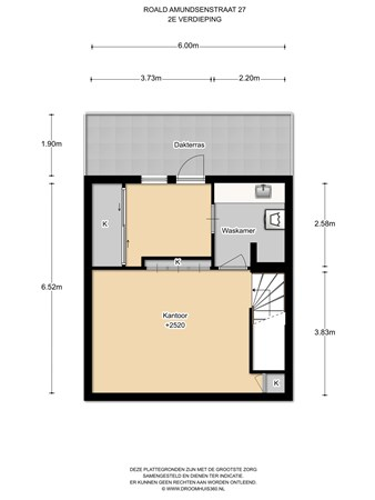 Floorplan - Roald Amundsenstraat 27, 1363 KH Almere
