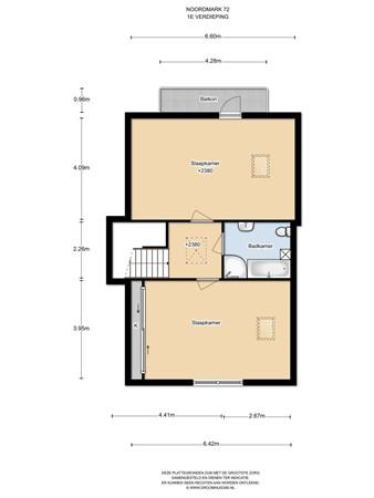 Floorplan - Noordmark 72-73, 1351 GG Almere