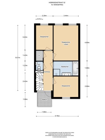 Floorplan - Hebridenstraat 52, 1339 SC Almere