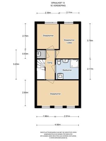 Floorplan - Opaalhof 13, 1339 HZ Almere