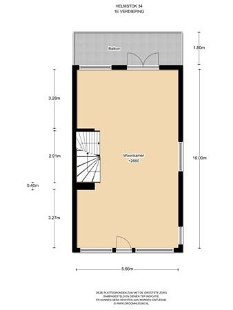 Floorplan - Helmstok 34, 1319 CK Almere