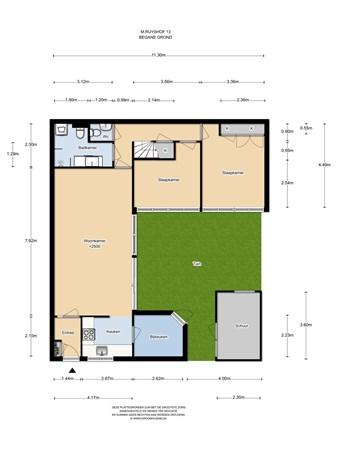 Floorplan - M. Ruyshof 13, 1333 JL Almere