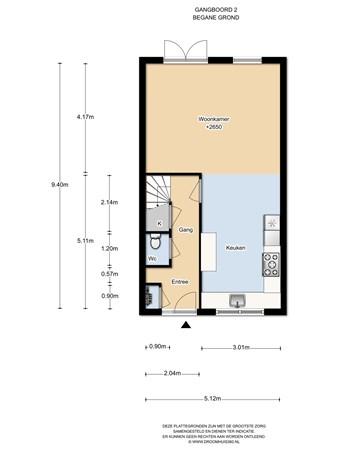 Floorplan - Gangboord 2, 1319 AW Almere