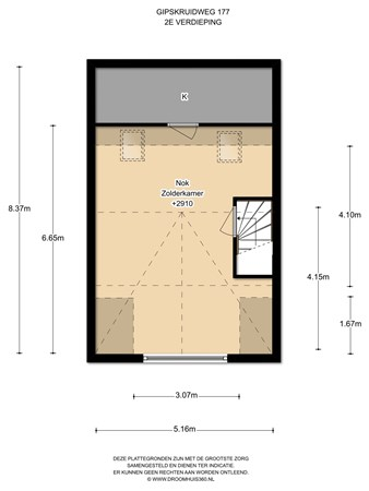 Floorplan - Gipskruidweg 177, 1313 CS Almere