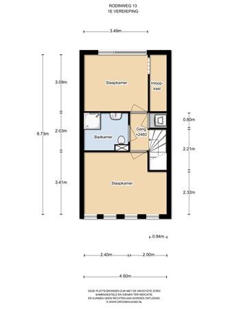 Floorplan - Rodinweg 13, 1328 PV Almere