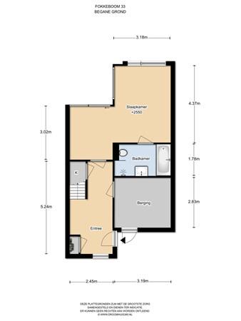 Floorplan - Fokkeboom 33, 1319 BH Almere