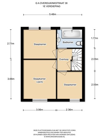 Floorplan - G.A. Overdijkinkstraat 38, 1333 JM Almere