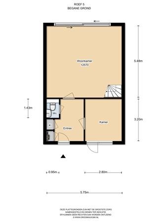 Floorplan - Roef 5, 1319 AJ Almere