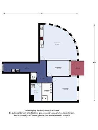 Floorplan - Nederlandstraat 5, 1363 DB Almere
