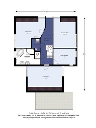 Floorplan - Nienke Van Hichtumstraat 10, 1321 JN Almere