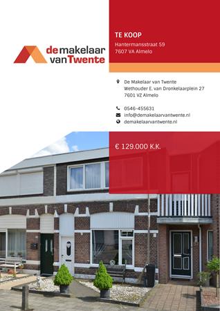 Brochure preview - Hantermansstraat 59, 7607 VA ALMELO (1)