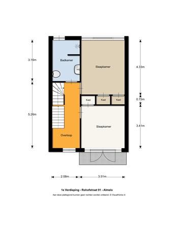 Floorplan - Rohofstraat 91, 7604 AL Almelo