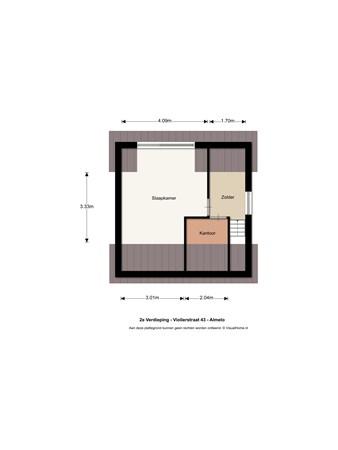 Floorplan - Violierstraat 43, 7601 GP Almelo