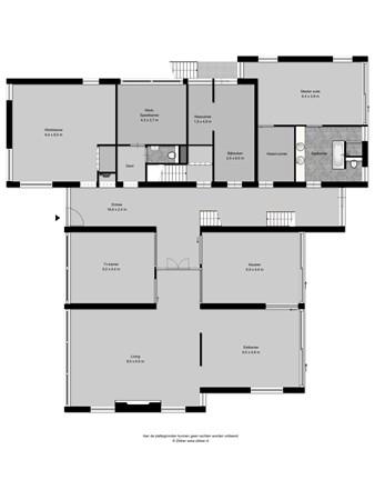 Floorplan - Vlasrootlaan 1, 5582 VC Waalre