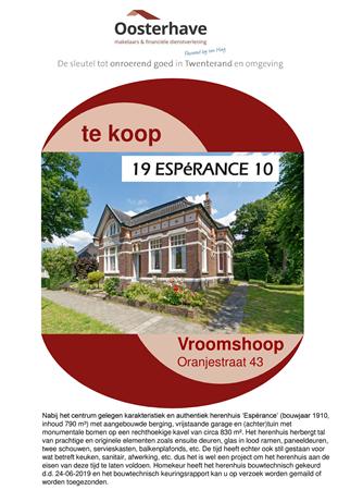 Brochure preview - Brochure Oranjestraat 43 Vroomshoop O.pdf