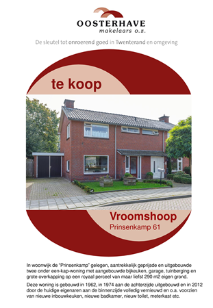 Brochure preview - VERKOOPBROCHURE PRINSENKAMP 61 VROOMSHOOP..pdf