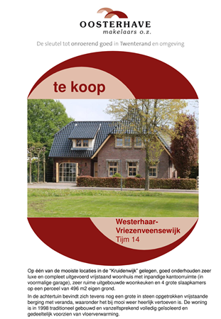 Brochure preview - VERKOOPBROCHURE TIJM 14 A.pdf
