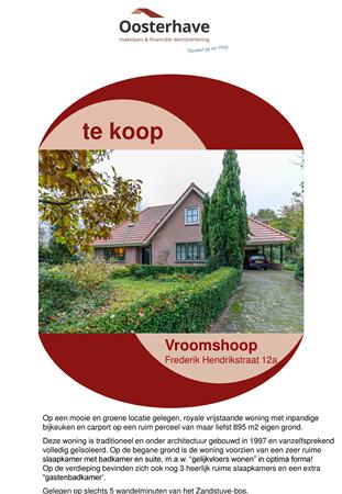 Brochure preview - VERKOOPBROCHURE FREDERIK HENDRIKSTRAAT 12A VROOMSHOOP.pdf
