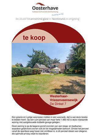 Brochure preview - BROCHURE DINKEL 7 WESTERHAAR VO-V18106.pdf