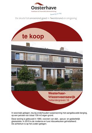 Brochure preview - VERKOOPBROCHURE HOLLANDERGRAVEN 16 WESTERHAAR VO-V18116.pdf