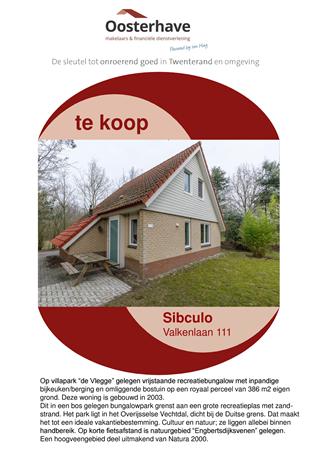 Brochure preview - VERKOOPBROCHURE Valkenlaan 111 Sibculo.pdf
